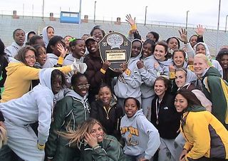 Girls track 5th straight city championship