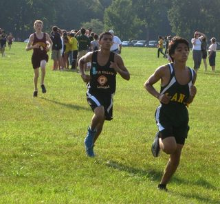 Jonathan Vera of Lane leads at the 1 mile mark