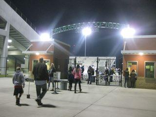 Wood FOrest Bank Stadium entrance