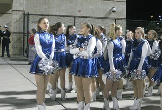Cheerleaders prepping before the game 2